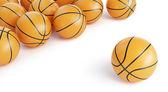 Pozadí basketbal koulí — Stock fotografie