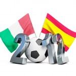 Soccer 2012 spain vs italy — Stock Photo #11621050