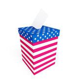 Voto caja usa — Foto de Stock