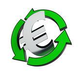 Recycling euro — Stock Photo