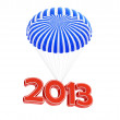 Parachute new year's 2013 - Stock Photo