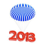 Parachute new year's 2013 — Stock Photo