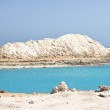 Amazing Blue lake among the sand and rocks — Stock Photo #11280108