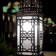 Arabic Retro street lamp at dark night — Стоковая фотография