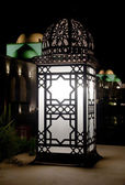 Arabic Retro street lamp at dark night — Stok fotoğraf
