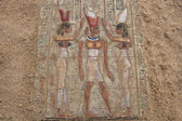 Ancient egyptian paintings on the stone plate — Photo