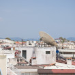 Satellite Dishes on the top of Roofs — Stock Photo #12080885