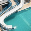 Swimming pool in the Hotel — Stock Photo
