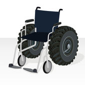 Wheelchair. — Stock Vector