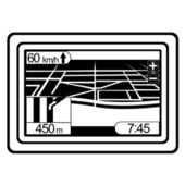 Black and white navigator — Stock Vector