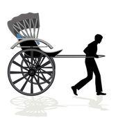 Rickshaw — Vector de stock