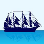 Yelkenli gemi — Stok Vektör