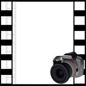 Camera and a frame of film — Stock Vector