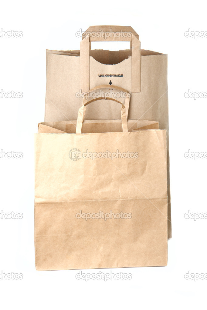 Paper shopping bags isolated on white background — Stock Photo #10880317