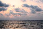 Sunset over Mediterranean Sea — Stock Photo