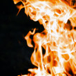 Hot fire background — Stock Photo
