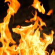 Fire flame with smoke — Stock Photo