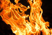 Fire with copy space — Stock Photo