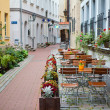 Latvia, Riga, street cafe — Stockfoto