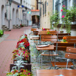 Latvia, Riga, street cafe — Stock Photo