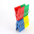 Color clothes-pegs - Stock Photo