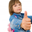 Girl showing thumbs up — Stock Photo #10991069