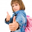 Girl showing thumbs up — Stock Photo #11020683