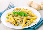 Penne pasta with mushroom — Stock Photo
