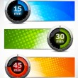 Stock Vector: Set of banners with timers
