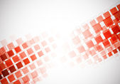 Background with red squares — Stock Vector