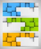 Conjunto de banderas con cuadrados — Vector de stock