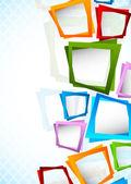 Fond avec des carrés — Vecteur