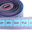 Blue measuring tape — Stock Photo