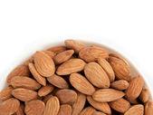 Close-up bowl almonds — Stock Photo