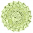 Royalty-Free Stock Imagen vectorial: One hundred dollar banknotes