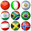 Royalty-Free Stock Vector Image: National flag ball set 2