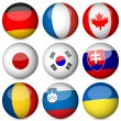 National flag ball set 3 — Stock Vector