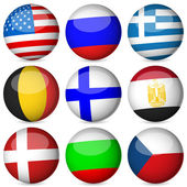 National flag ball set — Stock Vector