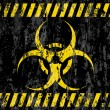 Grunge biohazard sign background — Stock Vector