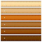 Righello in legno — Vettoriale Stock