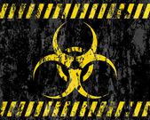 Grunge biohazard sign background — Stock Vector