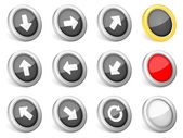 3d icons arrows — Stock Vector