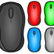 Stock Vector: Computer mouse set