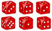 骰子集 — 图库矢量图片