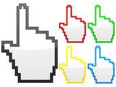 Hand-computer-cursor — Stockvektor