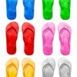 Flip flop set - Stock Vector