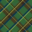 Realistic scottish cloth - Stock Vector