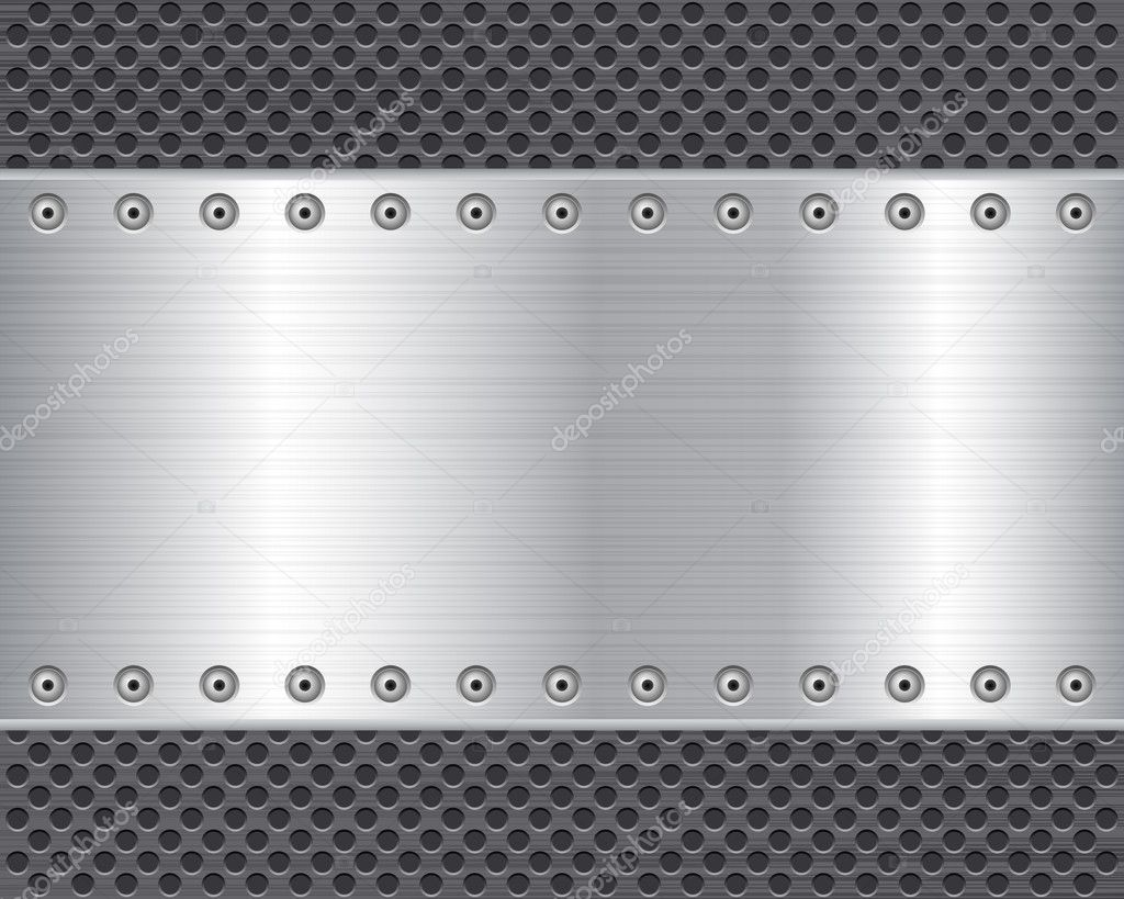 Metal texture background. Vector illustration. — Stock Vector #12401605