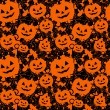 Seamless background with pumpkins — Imagen vectorial