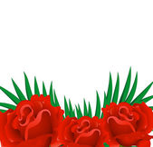 Background of red rose petals. — Stock Vector